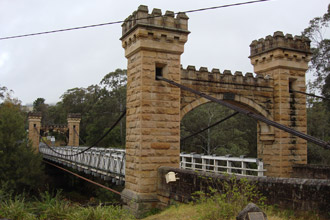 Hampden Suspension Bridge, Kangaroo Valley, NSW photo